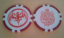 Ron BACARDI Puerto Rico Rum WHITE ORANGE Poker Chip Casino Bar LAS VEGAS RD TRIP