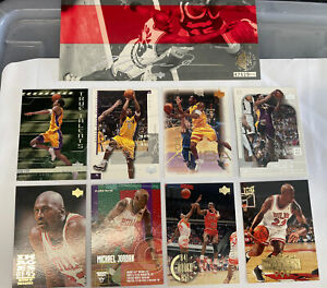 Jordan & Kobe Bryant 9 Card Lot. Jumbo Rare Air Jordan Card Numbered.$$$ Big BV
