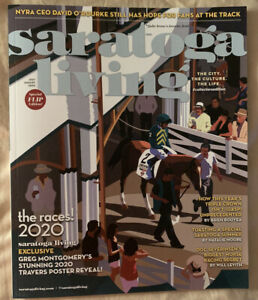 2020 Saratoga Living Magazine, Greg Montgomery Cover, Race Course, Code of Honor