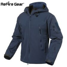 Refire Gear Military Tactical Soft Shell Jacket Winter Navy 3XL (China) XL (US)