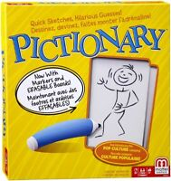Pictionary Board Game by Mattel - Drawing Sketching Kids Family Game - NEW