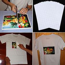 10pcs A4 Iron On Inkjet Print Heat Transfer Paper For T-Shirt Light FabricCQ1283