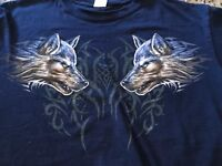 Grey Wolf Portrait T-Shirt by The Mountain. Wild Wolves Tee Sizes (M) Offers Wel