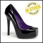 BONDAGE-01 Sexy Black High Heel Fetish Shoes Size 5 38 Devious Shoes Closed Toe