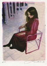 """Peter Handel """"Lisa sitzend"""", 2005  Digitale Malerei, handsigniert"""