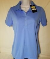 NWT~Nike Golf Tour Performance Womens Small Blue Dri-Fit Short Sleeve Polo Shirt