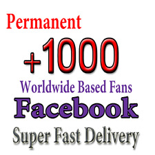 Get 1000 Facebook Fan Page Like ( Safe - Permanent - Fast ) for 5$
