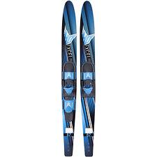 Ho Skis Blast 67-Inch Waterskiing Combo Skis w/ Trainer Bindings, One Size, Blue
