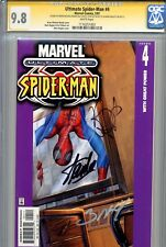 Ultimate Spider-Man 4 CGC 9.8 SS X3 Stan Lee Bendis writing Bagley White Pages 1