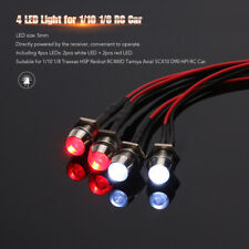 4 LED Light Kit Truck Lights Headlights Taillight RC Car Accessories 1/10 I6A0