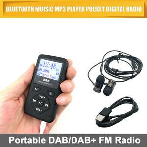 Portable Audio Pocket Digital DAB/DAB+ FM Radio Earphone Bluetooth MP3 Player