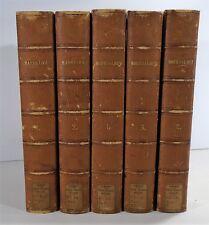 Oeuvres de Massillon Works Five Volume Set Leather Bindings 1838 Paris Rare