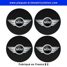 sticker Mini aspect carbone 02 pour cache moyeu de jante (lot de 4)