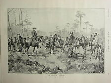 1898 PRINT ~ U.S. REGULAR CAVALRY
