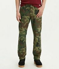 NWT Men's Levi's 541 Athletic Taper Green Camouflage Print Denim Jeans ALL SIZES