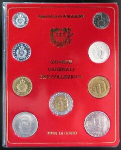 4.SAMX01 - SET SAINT MARIN FDC - Série de 9 monnaies 1 à 500 lires
