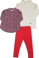 OshKosh Girl's 3 pc Holiday Legging Pant Long Sleeve Shirt Set  Red  Sz 3T 4T