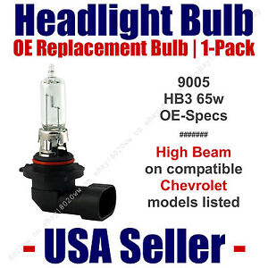 Headlight Bulb High Beam Replacement Fits Chevy/Chevrolet Models 9005