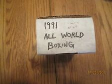 1991 All World Boxing Set 148/ 149 Cards - Nice Shape! Missing 1 card #69