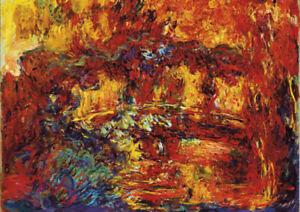 The Japanese Footbridge - Monet - Large A2 size Canvas Art Print Poster Unframed