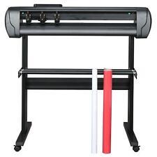 34in Vinyl Cutter Plotter Sign Cutting Machine Printer Lcd Screen Software Tools