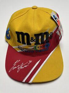 VTG Ernie Irvan #36 M&M's Racing Team Yellow & Red NASCAR Hat Cap Snap-Back NEW