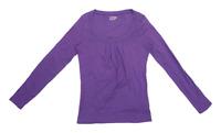 Benetton Womens Size L Cotton Purple Top (Regular)