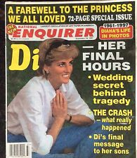National Enquirer  Sept. 16, 1997. Lady Di. A farewell to the princess