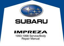 Subaru Impreza 1993 1994 1995 1996 1997 1998 Service Repair Shop Factory Manual