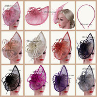 Large Fascinator with Headband and Hair Clip Wedding Ladies Day Race Royal Ascot