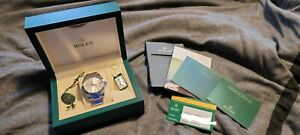Rolex Datejust II 41mm Silver Dial Oyster Band with Box and Cards 116300