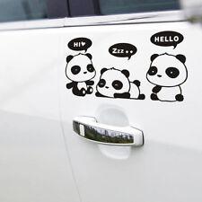21x11cm Sticker Personnalisation Voiture Auto Film Autocollant /Pandas BK