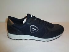 Ecco Size 10 to 10.5 Eur 41 SNEAK Black Leather Lace Sneakers New Womens Shoes