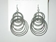 "- Shimmering Silver Ringlets-Rv $36 New Lia Sophia ""Voltage"" Earrings"