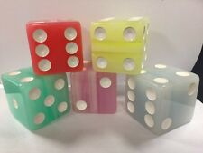 "2"" Jumbo Large Tropical Dice - Multicolor  (Set of 5 dice)"