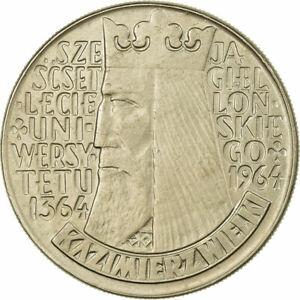 [#727036] Coin, Poland, 10 Zlotych, 1964, EF(40-45), Copper-nickel, KM:52.1