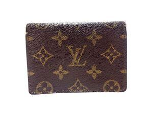 Authentic LOUIS VUITTON Monogram Card Case ID Pass Holder M60533 Browns Vintage