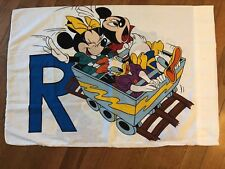 Vintage Walt Disney Mickey Minnie Mouse Goofy Double Sided Pillow Case