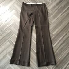Juicy Couture Brown Pin Striped Pants Slacks Womens Size 29 Flare Wear to Work