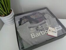 BMWT Barbour Gris Pijamas Pijama Loungewear conjunto de Mezcla de Algodón Talla S