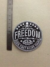D273 // ECUSSON PATCH AUFNAHER TOPPA / NEUF / FREEDOM RIDE FAST 8 CM