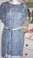 Noa Noa Tunika Kleid Dress Printed Blue Shades mit Unterkleid Size: 34 Neu