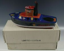 SUPER TUG TIN STEAM BOAT BY RATTANDEEP IN BOX VINTAGE BLUE