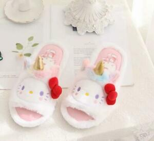 Hello kitty cos unicorn open-toed indoor shoes slippers shoe new