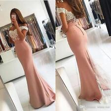 New Off Shoulder Mermaid Bride Wedding Party Evening Formal Dress Pageant Gown