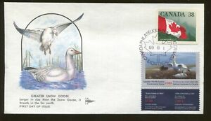 1989 Canada Wildlife Conservation Duck Stamp #CN5 Gill Craft First Day Cover