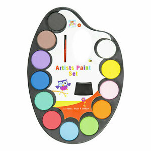 Kids Artist Paint Palette Brush Set Water Colour Childrens Arts Crafts Painting