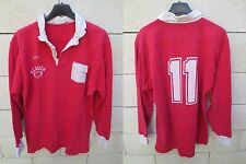 VINTAGE Maillot rugby FC AUCH porté n°11 coton ancien collection L worn shirt