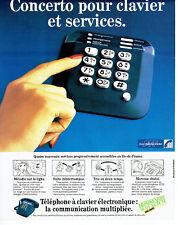 Publicité Advertising 107  1984  PTT télécommunications  téléphone clavier éléct