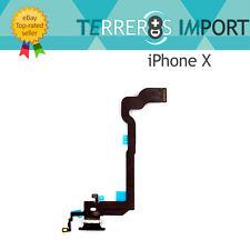 Flex Carga Conector Lightning Microfono para iPhone X Negro
